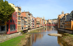 View of the city of Girona, Spain Royalty Free Stock Photography