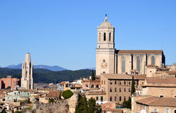 View of the city of Girona, Spain Royalty Free Stock Images