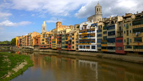 View of the city of Girona, Spain Stock Photos