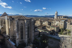 View of the city of Girona, Spain Stock Photography