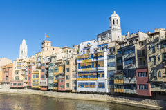 View of the city of Girona, Spain Stock Image