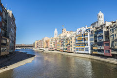 View of the city of Girona, Spain Royalty Free Stock Photos