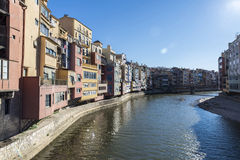 View of the city of Girona, Spain Stock Images