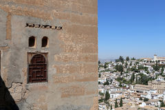 View of the city of Granada and the Alhambra Palace - the medieval Moorish castle in Granada, Andalucia Stock Photo