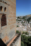 View of the city of Granada and the Alhambra Palace - the medieval Moorish castle in Granada, Andalucia, Spain Stock Images