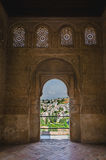 View of city of Granada from archway Royalty Free Stock Photos