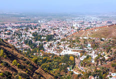 View of the city of Granada Royalty Free Stock Photography