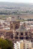 View of the city of Granada Royalty Free Stock Photos