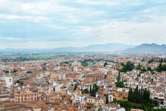 View of the city of Granada, Spain Royalty Free Stock Images