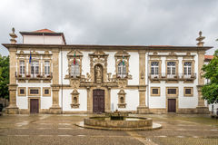 View at the City hall of Guimaraes - Portugal Stock Image
