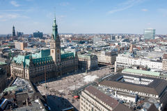 View on City Hall of Hamburg, Germany Stock Photography