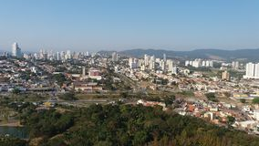 View of the city hall of Jundiaí - Botanical Garden Stock Photography