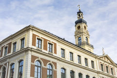 View of City hall and the main square in old city of Riga, Latvi Royalty Free Stock Photography