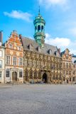View at the City hall of Mons in Belgium. View at the City hall of Mons - Belgium stock images