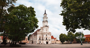 View of City Hall in old town. Kaunas, Lithuania Royalty Free Stock Images