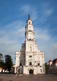 View of City Hall in old town. Kaunas, Lithuania Royalty Free Stock Image