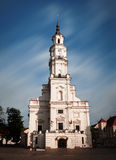 View of City Hall in old town. Kaunas, Lithuania Stock Photos