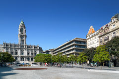 The view of the City Hall in Porto, Portugal. Stock Image