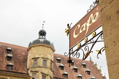 View of city hall of Rothenburg, Germany Stock Photo