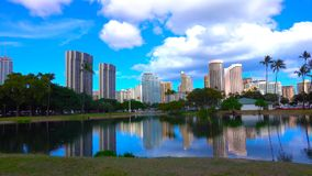 View of city in hawaii || singapore city skyline 2019 stock images