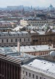 View of the city from a height. Buildings and rooftops, stretching to the horizon Stock Photo