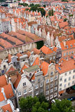 View of the city from a height, Gdansk, Poland. Stock Photos