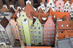 View of the city from a height, Gdansk, Poland. Stock Photo
