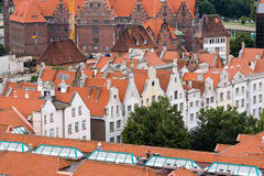 View of the city from a height, Gdansk, Poland. Royalty Free Stock Photo