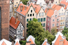 View of the city from a height, Gdansk, Poland. Stock Images