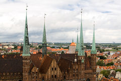 View of the city from a height, Gdansk, Poland Stock Photo