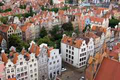 View of the city from a height, Gdansk, Poland Stock Images