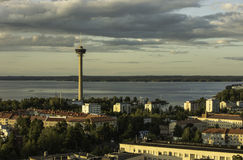 View of the city from a height. Tampere, Finland. Royalty Free Stock Photography