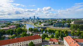 The view of the City high-rise buildings in Vilnius Royalty Free Stock Photography