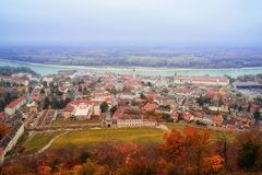 View of the city of Highburg on the Danube from the top. Austria, Europe. stock photos