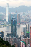 The view of city in Hongkong Stock Image