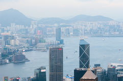 The view of city in Hongkong Stock Images