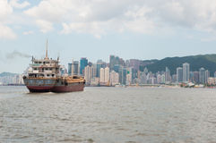 The view of city in Hongkong Royalty Free Stock Photos