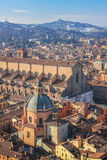 View of the city and the horizon, Bologna Italy Royalty Free Stock Photography