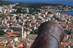 View of the city of Hvar from a fortress. Island Hvar. Croatia. Royalty Free Stock Photography
