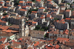 View of the city of Hvar from a fortress. Island Hvar. Croatia. Royalty Free Stock Image