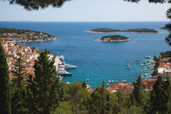 View of the city of Hvar from a fortress. Island Hvar. Croatia. Royalty Free Stock Photos
