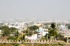 View from Golcanda Fort. View of the city of Hyderabad from the historic Golcanda Fort built during the Mughal Empire Royalty Free Stock Photos