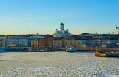 Helsinki landscape in spring stock images