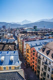 View of the city of Innsbruck from the roof. Austria Royalty Free Stock Photo