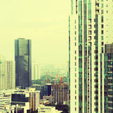 View of the city with a instagram filter stock images