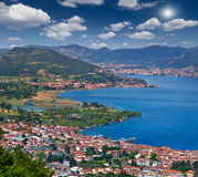 View of the city Iseo, a bright sunny day Royalty Free Stock Photo