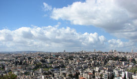 View of the city of Jerusalem. Landscape of the city of Jerusalem Stock Image