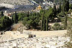 View of the city of Jerusalem Israel royalty free stock photo
