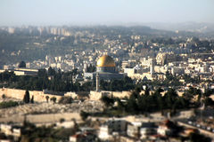 View of the city of Jerusalem Stock Images