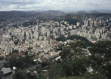 View of the city of Juiz de Fora, Minas Gerais, Brazil. Royalty Free Stock Photos